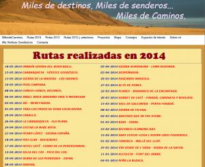 rutas 2014